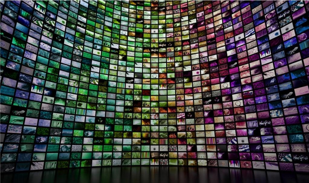 mur de vidéos